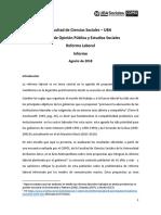 Reforma Laboral Informe COPES Agosto 2018