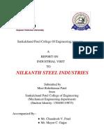 Report on Neelkanth Steel Industries