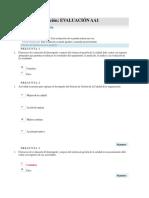 Realizar evaluación AA1