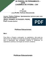 Políticas educacionais  - Concepção Socialista  CAV.pptx