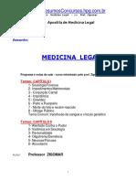 Apostila Medicina Legal - Prof. Zigomar