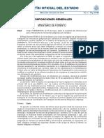 Orden FOM-606-2018 sobre el contenido mínimo del informe anual Consejero Seguridad