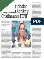 11-09-18 Dirigencia tricolor respalda a Adrián y Cristina ante TEPJF