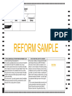 Reform Party Primary Sample Ballot