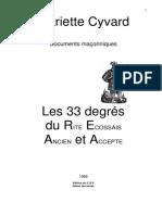 244419049 Les 33 Degres Du REAA PDF