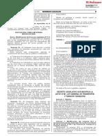 Decreto Legislativo que modifica la Ley N° 27181 Ley General de Transporte y Tránsito Terrestre