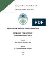 Derecho Tributario - Definiciones Terminologicas