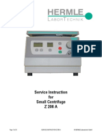 Hermle Z-206A Small Centrifuge - Service manual.pdf