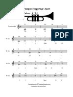 Trumpet - Fingering Chart