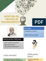 Apertura Del Proceso de Psicodiagnóstico