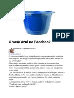 O Vaso Azul No Facebook