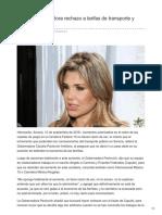 10-09-2018-Reitera Gobernadora Rechazo a Tarifas de Transporte y Cuatro Carriles - Termometroenlinea