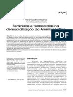 MONTECINOS, Verónica - Feministas e tecnocratas na democratização da América Latina.pdf