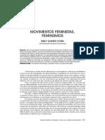COSTA, Suely Gomes - Movimentos feministas, feminismos.pdf