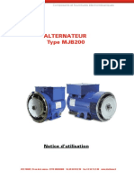 Alternateur MJB200 Notice