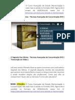 Livro O Segredo Dos Gênios + Box 3 DVDs do Curso de Memorização