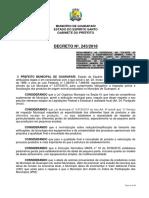 Decreto N 243-Dispoe Sobre Regulamentao de Abate Em Pequenas Escalas