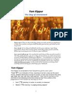 Yom Kippur - 5778