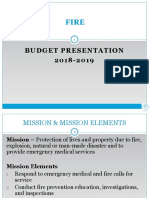 Fire Department Budget FY 2018-2019