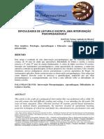 DIFICULDADES DE LEITURA E ESCRITA - UMA INTERVENCAO.pdf