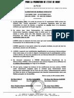 20 Ans Association Pour La Promotion de l'Etat de Droit (Aped)