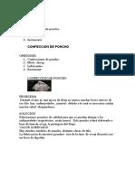 Planificacion y Organizacion DE UN poncho