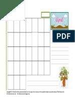 Spring Journal Planner April