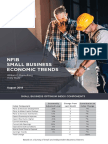 Small Business Optimism August 2018