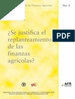 Replanteamiento de las finanzas agrícolas