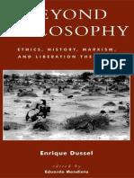 Beyond Philosophy Ethics, History, Marxism, and Liberation Theology, Enrique Dussel; Eduardo Mendieta (ed.), 2003