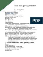 Cara Membuat Nasi Goreng Rumahan