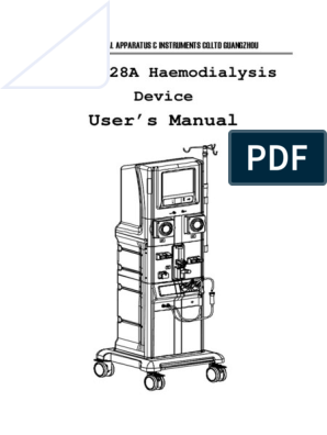 JHM-2028A User Manual | Hemodialysis | Dialysis
