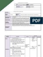 PLANIFICACION DE ESPAÑOL BLOQUE 5.docx