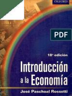 Introducciòn a La Economìa- Jose Paschoal Rossetti