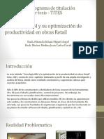 Tecnología BIM y Su Optimización de Productividad En