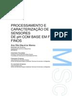 Processamento e Caracterizacao de Sensores de PH Com Base Em Filmes Finos Ana Rita Manso