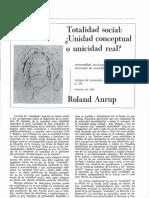 Roland Anrup   Totalidad  social