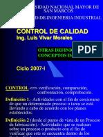 Sistemas de Control de Calidad