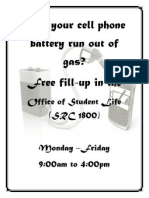 Cell phone charge