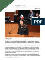 12/Septiembre/2018 Abre diputada la puerta a chuecos