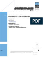 Field Research- Security Metrics