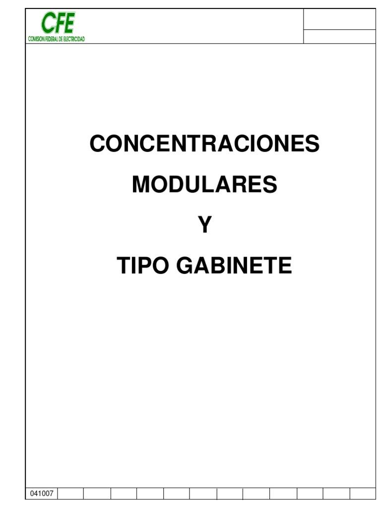 Norma CFE Instalaciones Medidores Concentraciones en Gabinete