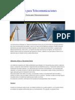 Tipos de Torres Comunicaciones