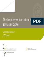 Fase Luteal Pada Siklus Natural Dan Stimulasi Ovulasi