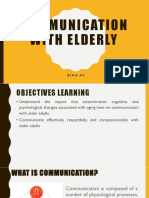 Communication in Elderly