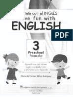 INGLES 3 PARA PREESCOLAR