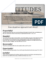 537 - Attitudes to Approach Bible Study