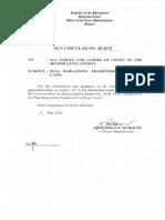 OCA Circular No. 90 2018 (Plea bargaining Framework in Drug Cases)