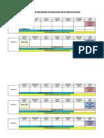 Calendario Actividades Fundamentos de Administración