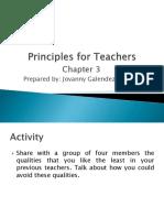Principles for Teachers